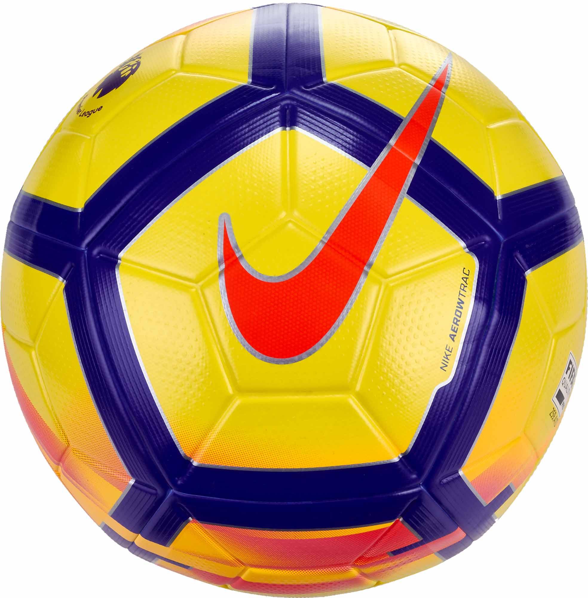 ae4478efc Nike Ordem V Hi-vis Match Ball - Premier League - Yellow & Crimson ...
