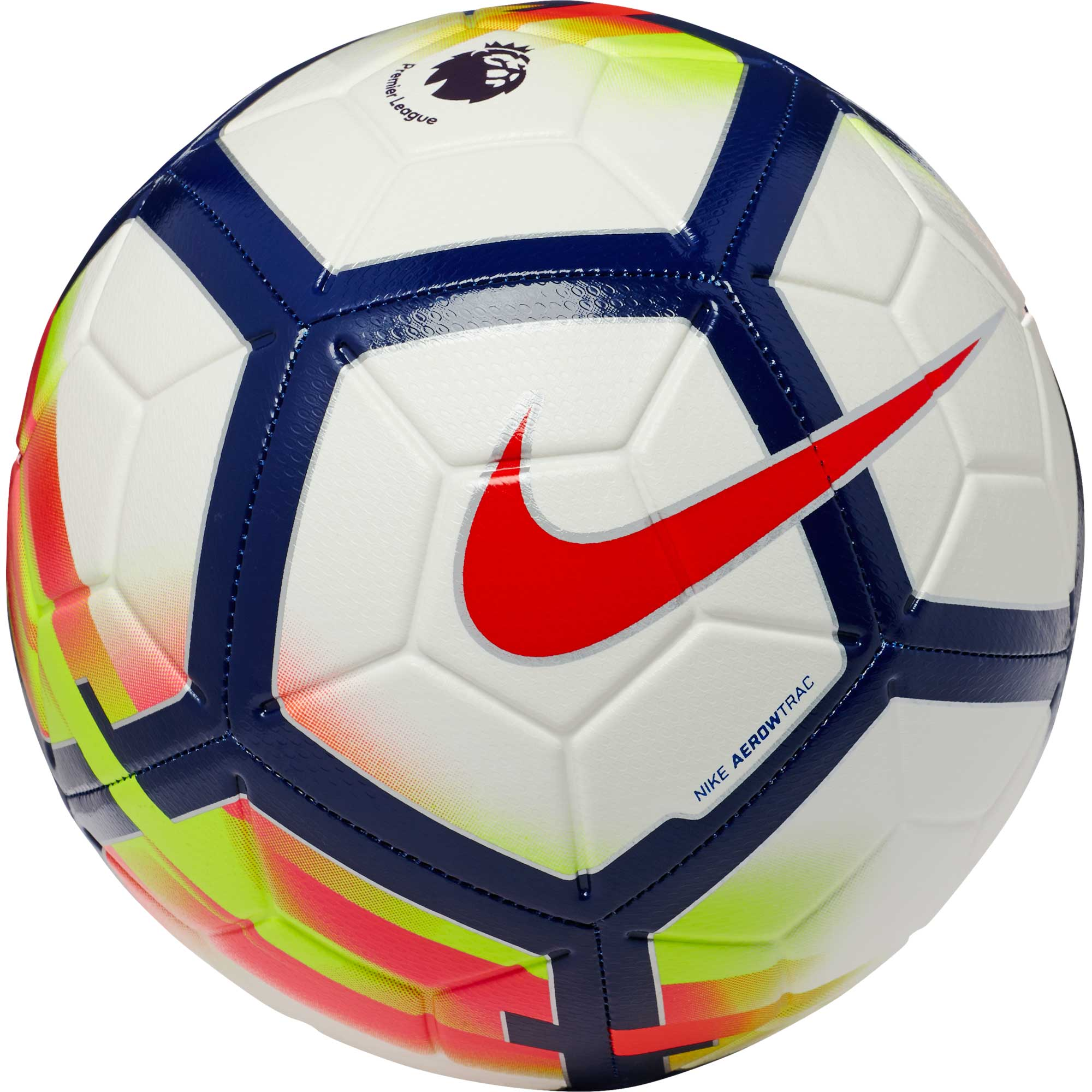 Nike Strike Soccer Ball - Premier League - White & Crimson ...