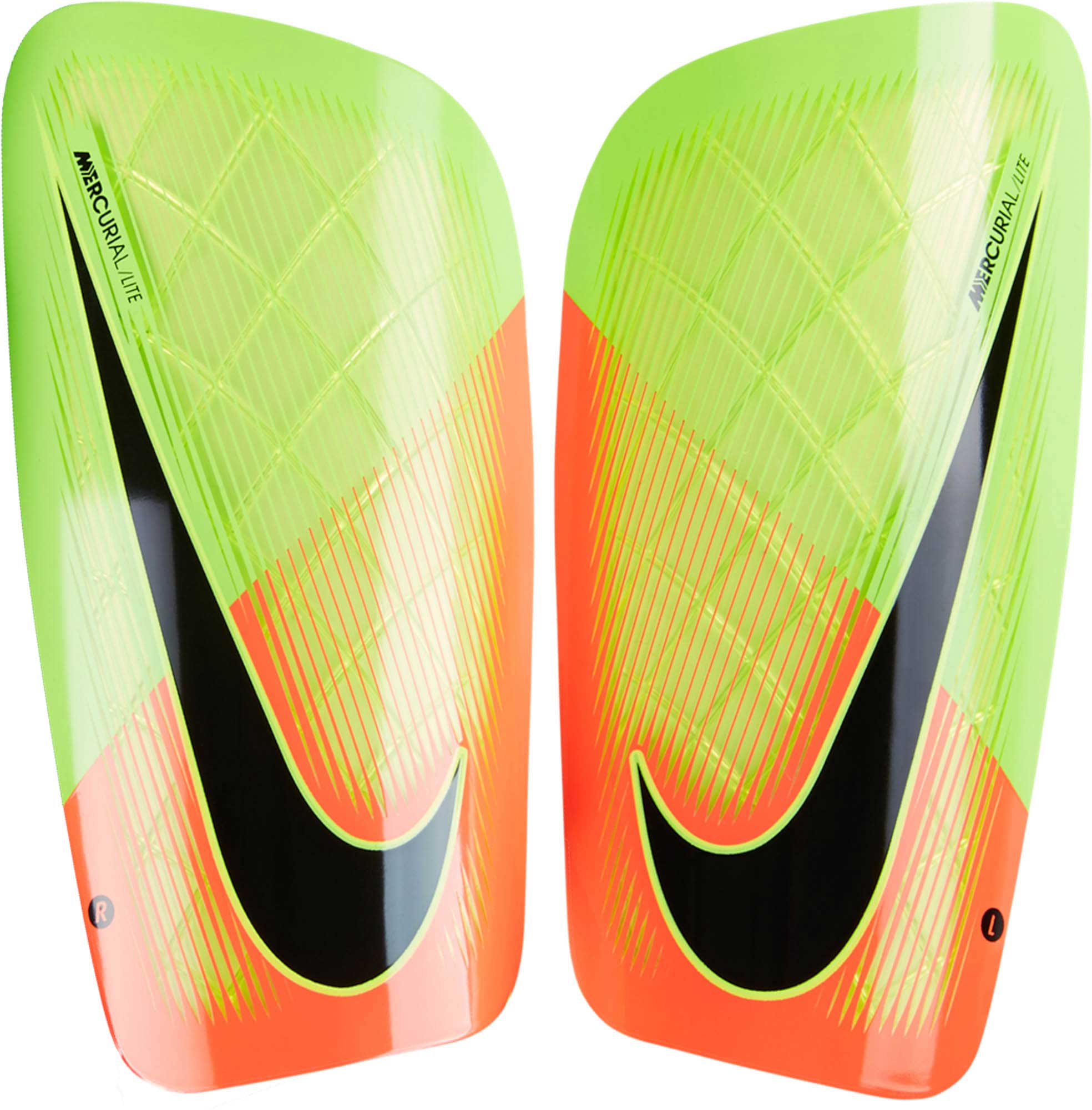 Nike Mercurial Lite Shinguards - Electric Green   Hyper Orange ... 3ecc74d36353