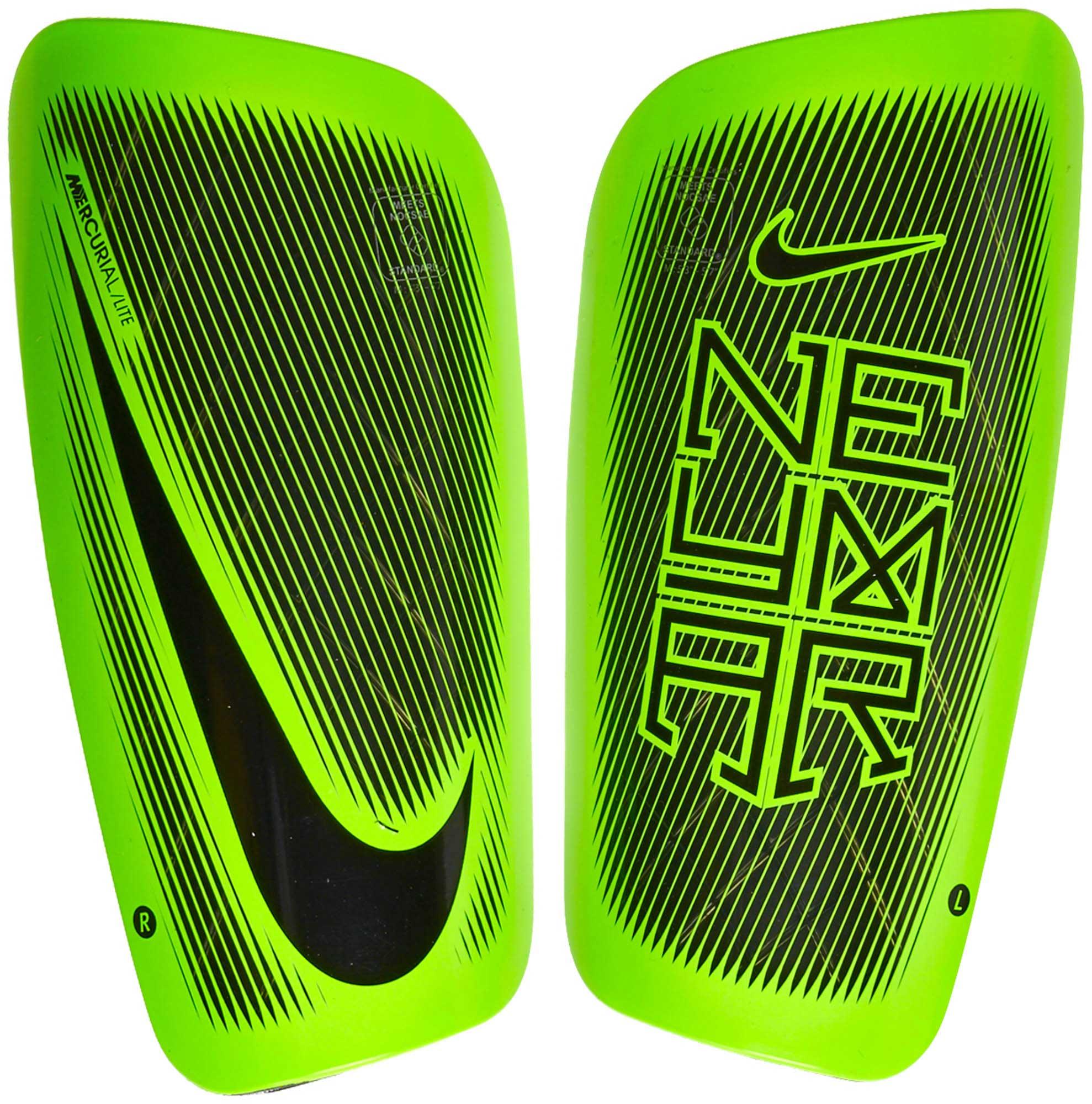 Nike Mercurial Lite Shinguards - Neymar - Black   Electric Green ... 1c11b71221b9
