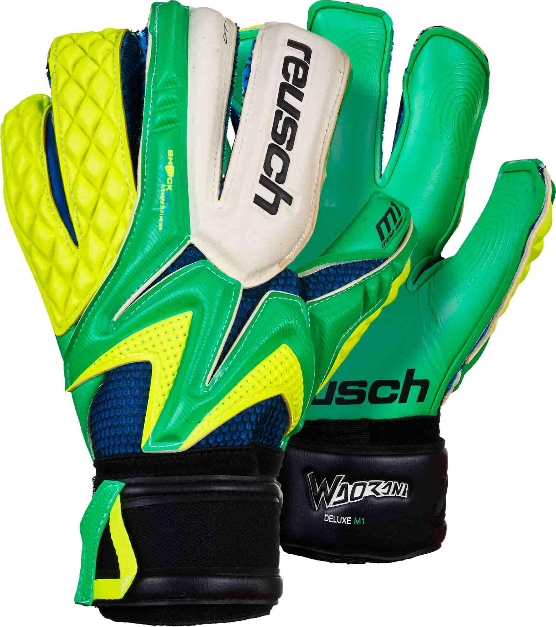 Reusch Waorani Deluxe M1 Goalkeeper Gloves Irish Green with Yellow ... 6107035a6
