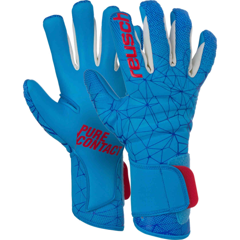 fe87b8b4c Reusch Pure Contact II AX2 Goalkeeper Gloves - Aqua - Soccer Master