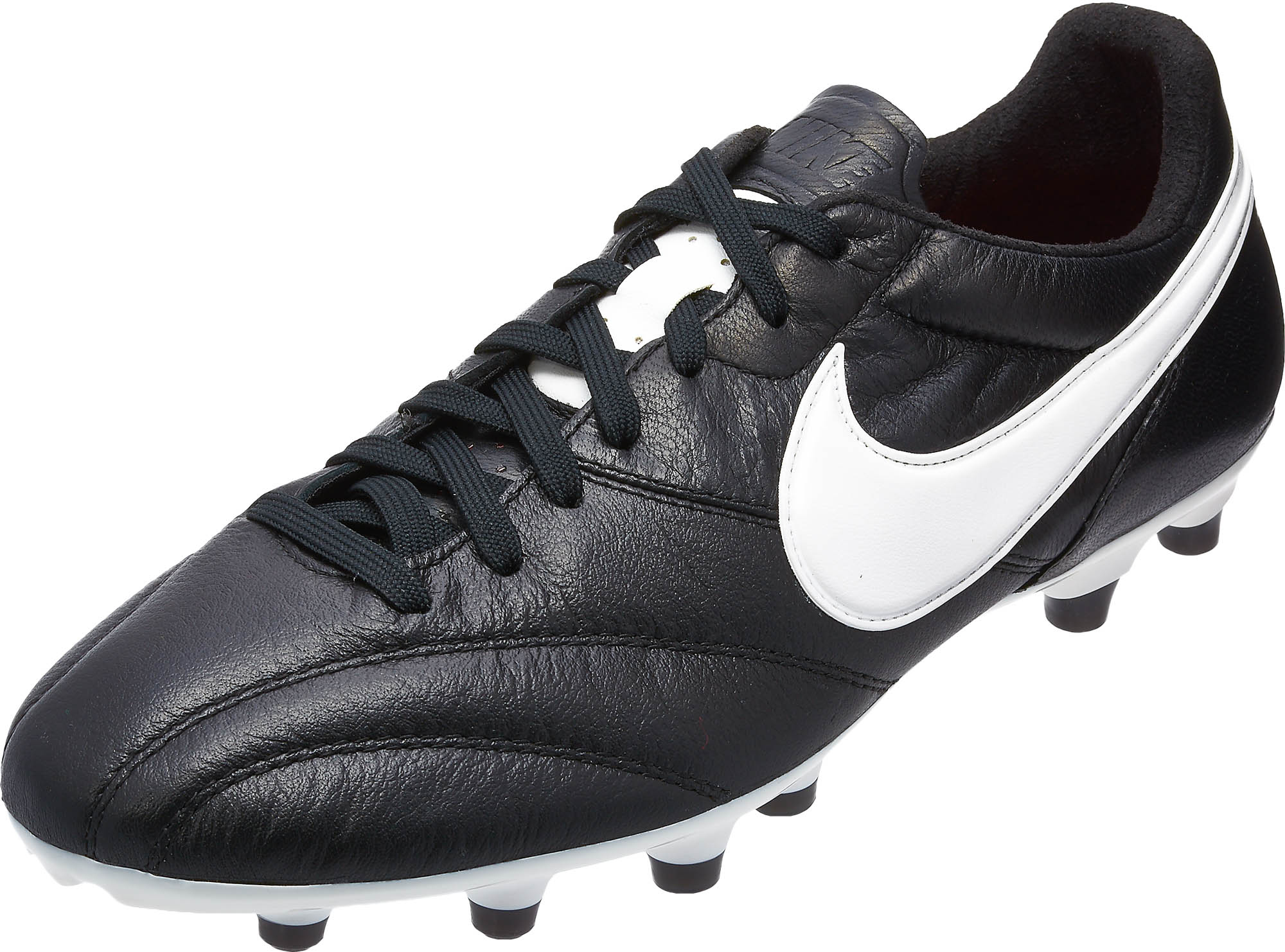 61427f31b42 The Nike Premier FG Soccer Cleats Black with White - Soccer Master