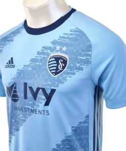 the best attitude d99f5 71dbb 2019 adidas Sporting KC Home Authentic Jersey - Soccer Master