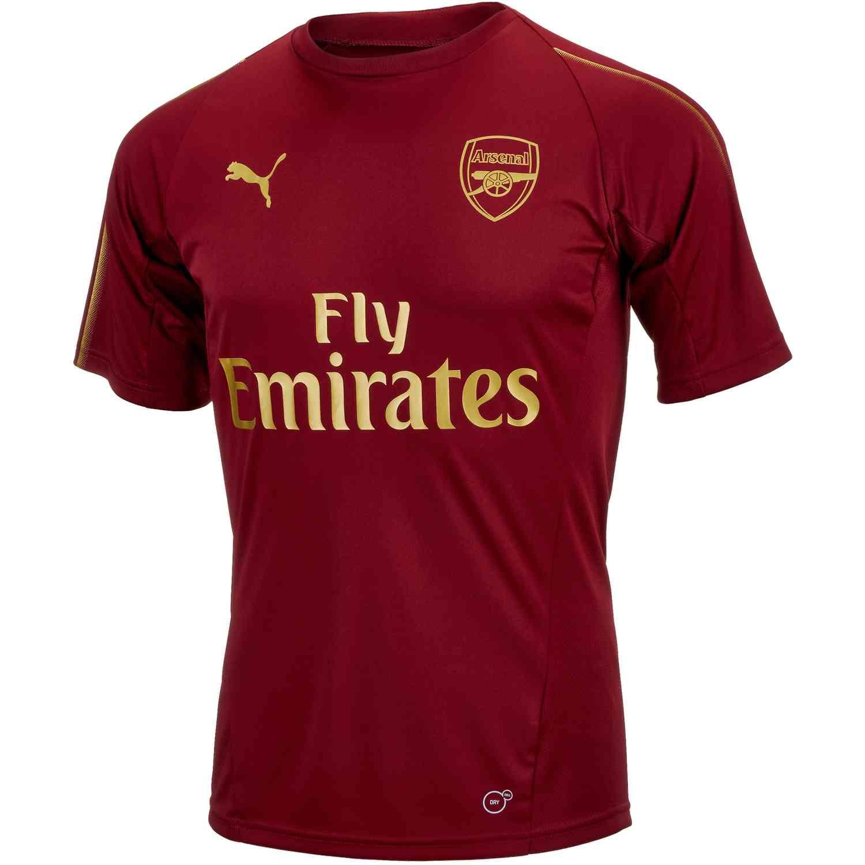 los angeles 0c952 e3a42 PUMA Arsenal Training Jersey - Pomegranate - Soccer Master