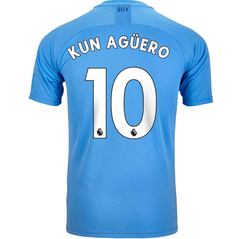 Manchester city 19-18 De Bruyne AGUERO STERLING soccer men jersey HOME AWAY 3RD