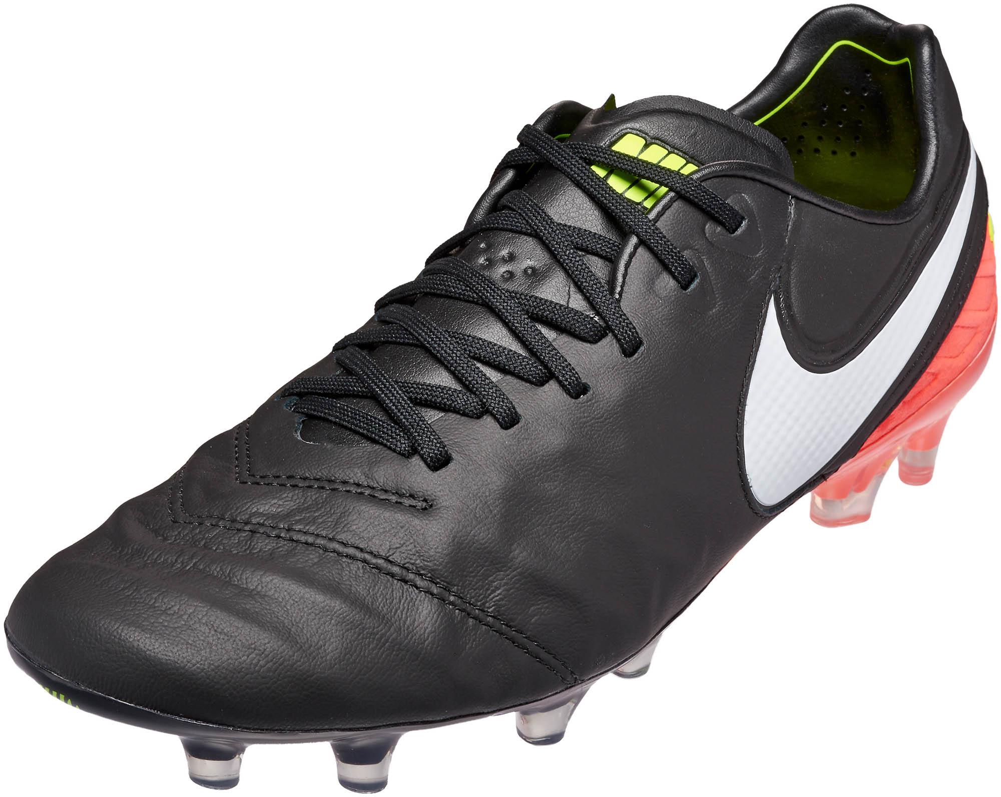 newest 82d57 1b61f Nike Tiempo Legend VI FG Soccer Cleats – Black   Hyper Orange