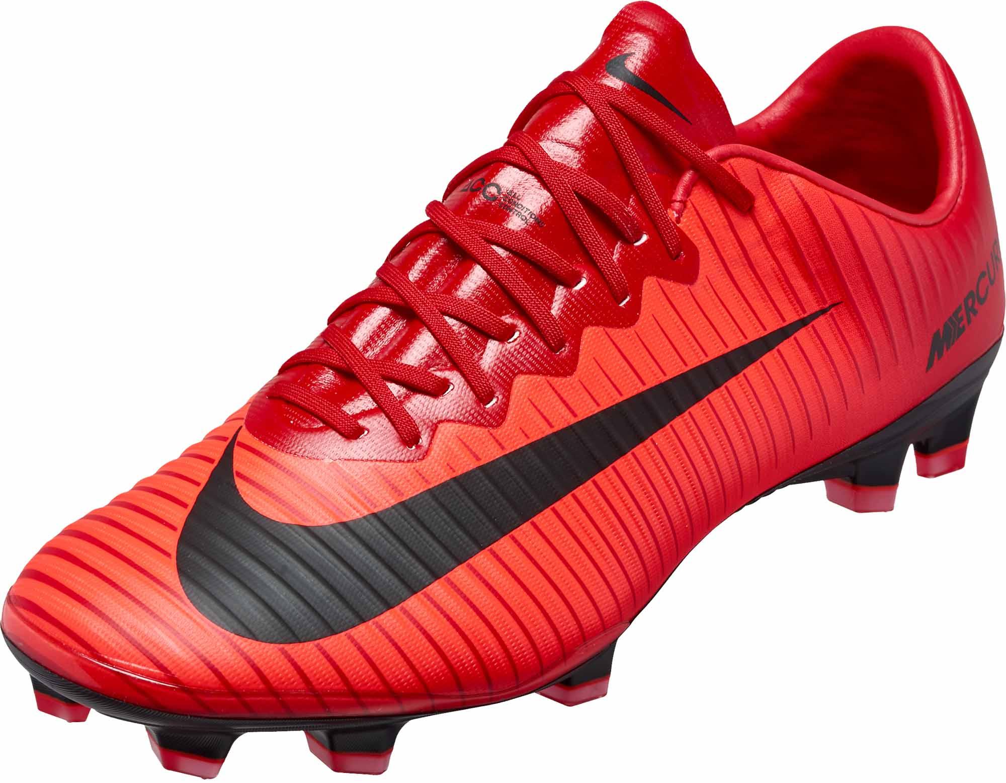 24915c1bfe5 Nike Mercurial Vapor XI FG - University Red   Black - Soccer Master