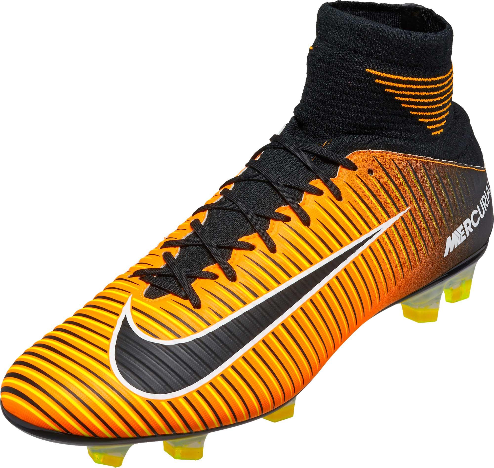 detailed look 88409 af2f4 Nike Mercurial Veloce III DF FG Soccer Cleats – Laser Orange   Black