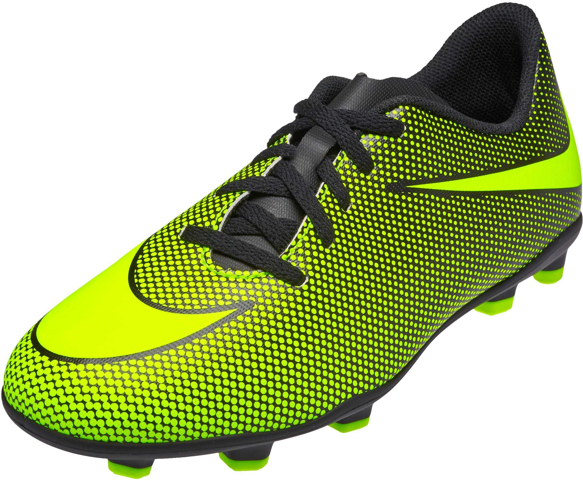 b9eb9d4d Nike Kids Bravata II FG Soccer Cleats - Black & Volt - Soccer Master