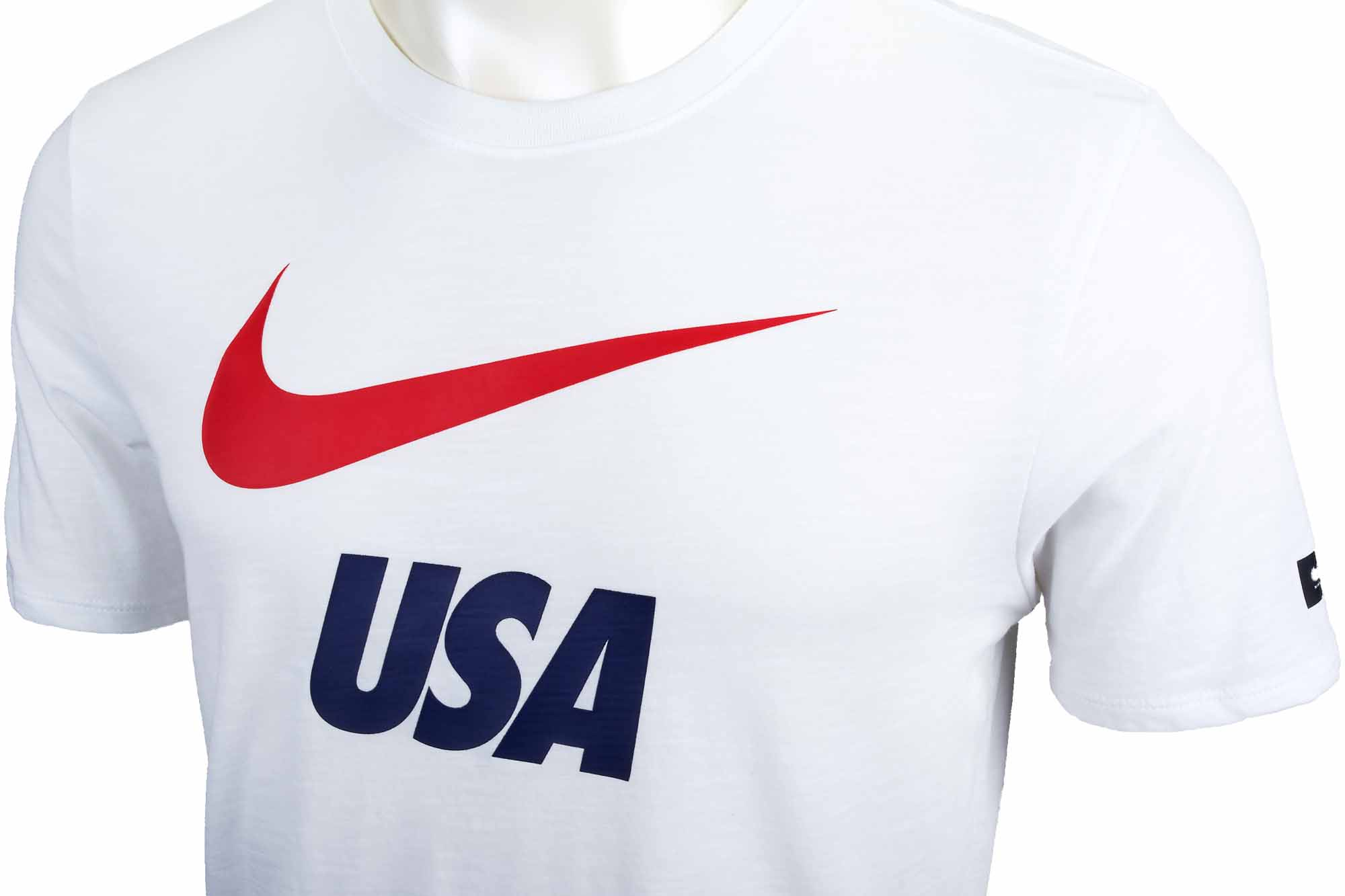 ef6417af39562 Nike USA Preseason Slub Tee - White - Soccer Master