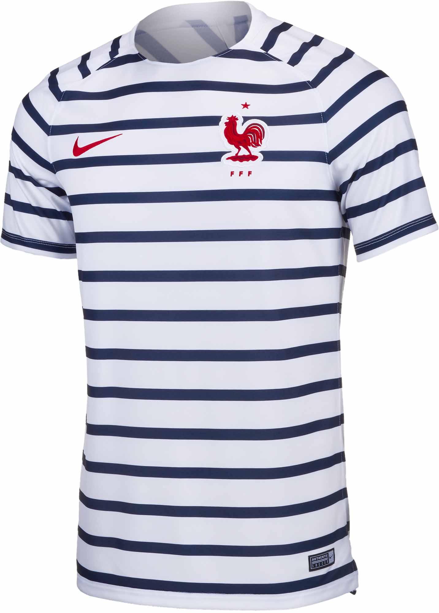 hullu hinta yksinoikeudella käsitellään uusi tuote Nike France Pre-Match Jersey 2018-19 - Soccer Master