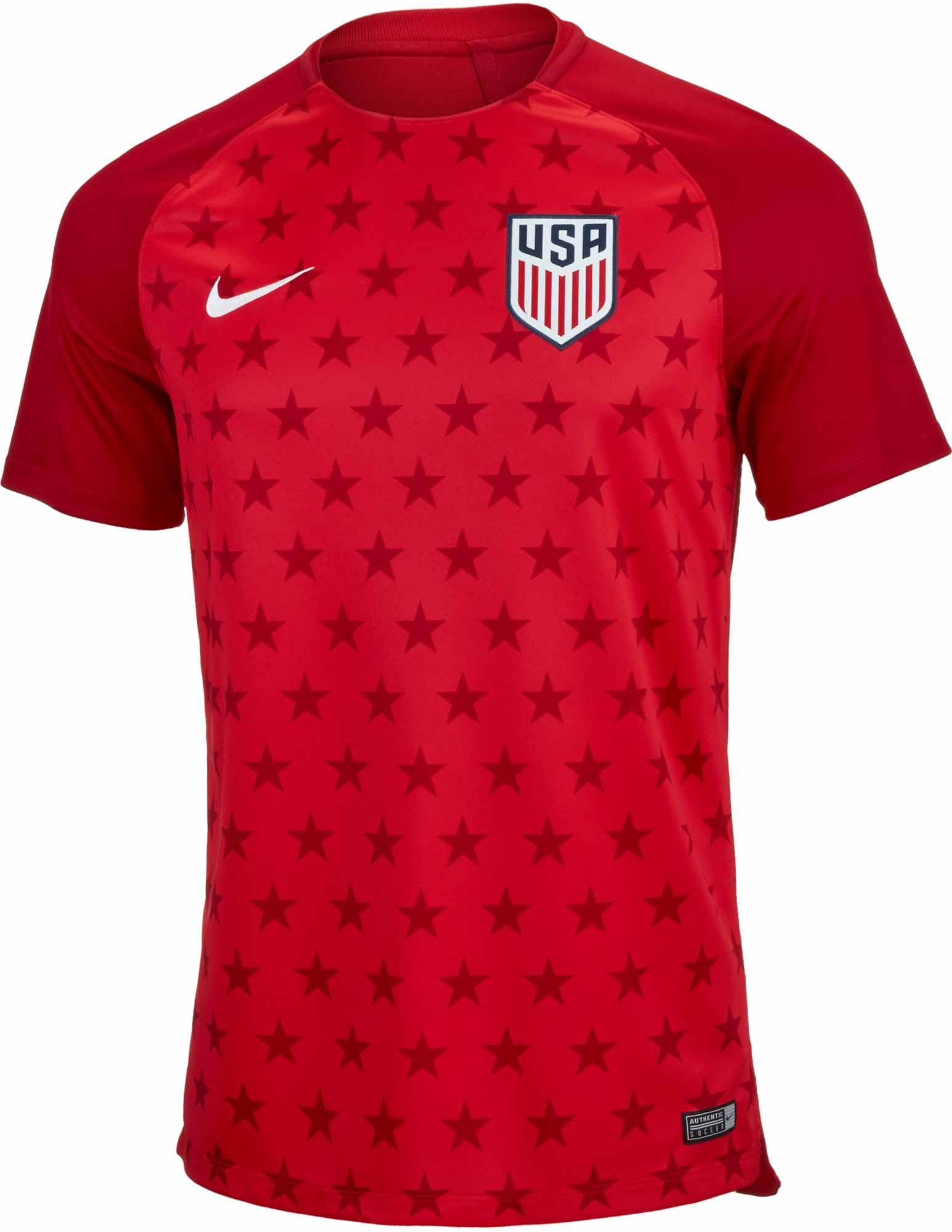 ac3bb0a112b Nike USA Pre-match Jersey 2018-19 - Soccer Master