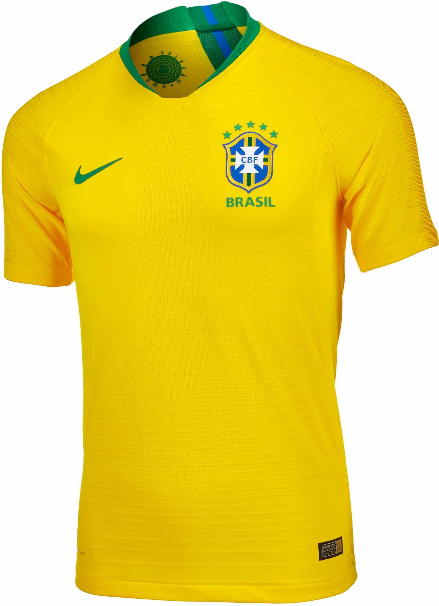 25c115dd4de 2018/19 Nike Brazil Home Authentic Jersey - Soccer Master