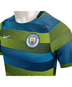 low priced 08fe8 64b4f Nike Manchester City Squad Top - Youth - Volt/Field Blue ...
