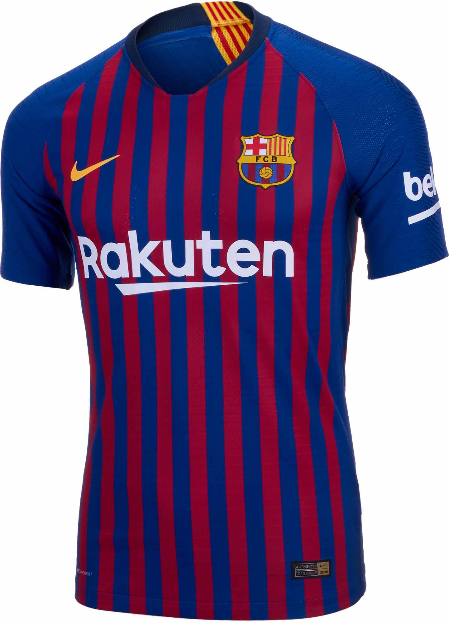 02232e87d 2018 19 Nike Barcelona Home Match Jersey - Soccer Master