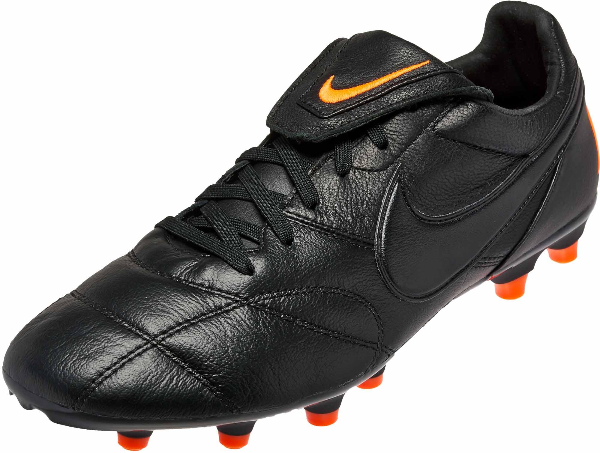 7066cf8fa The Nike Premier II FG - Black & Total Orange - Soccer Master