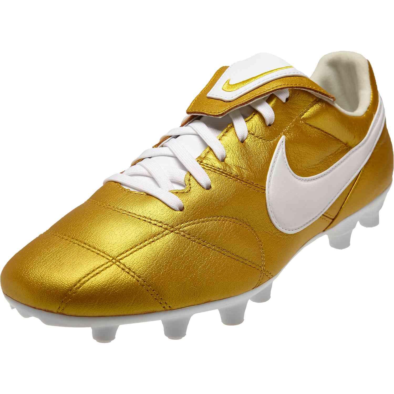 2de37c87c24c The Nike Premier II FG - Metallic Vivid Gold/White - Soccer Master