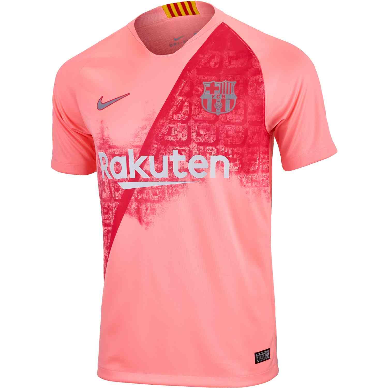 premium selection e846a 69957 2018/19 Nike Barcelona 3rd Jersey - Light Atomic Pink/Silver