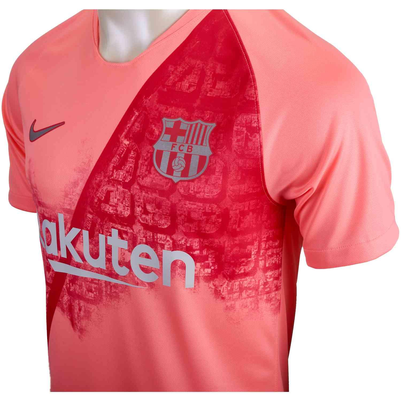 2018 19 Nike Barcelona 3rd Jersey - Light Atomic Pink Silver ... c233060b1