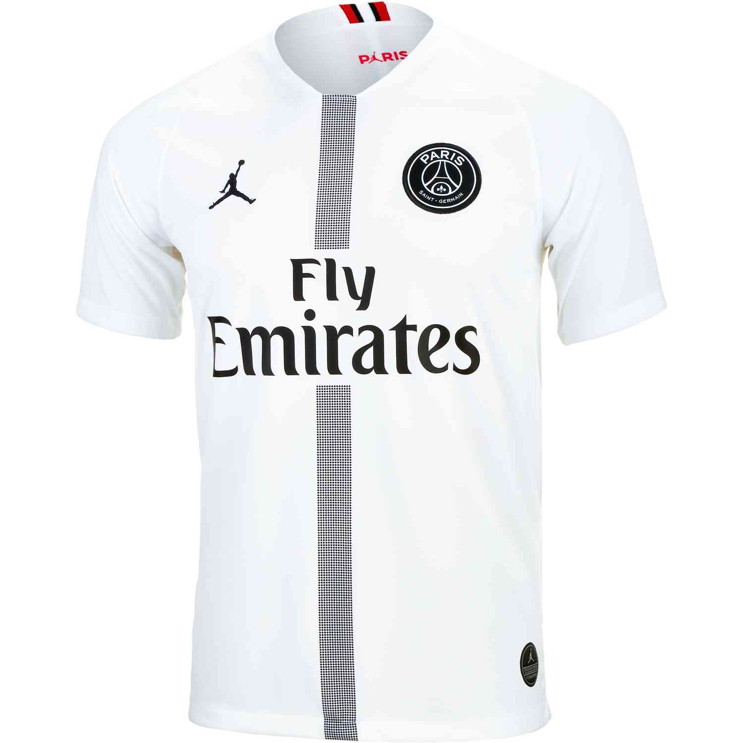 best sneakers 45a44 51f3c 2018/19 Jordan PSG 3rd Jersey - Youth - White/Black