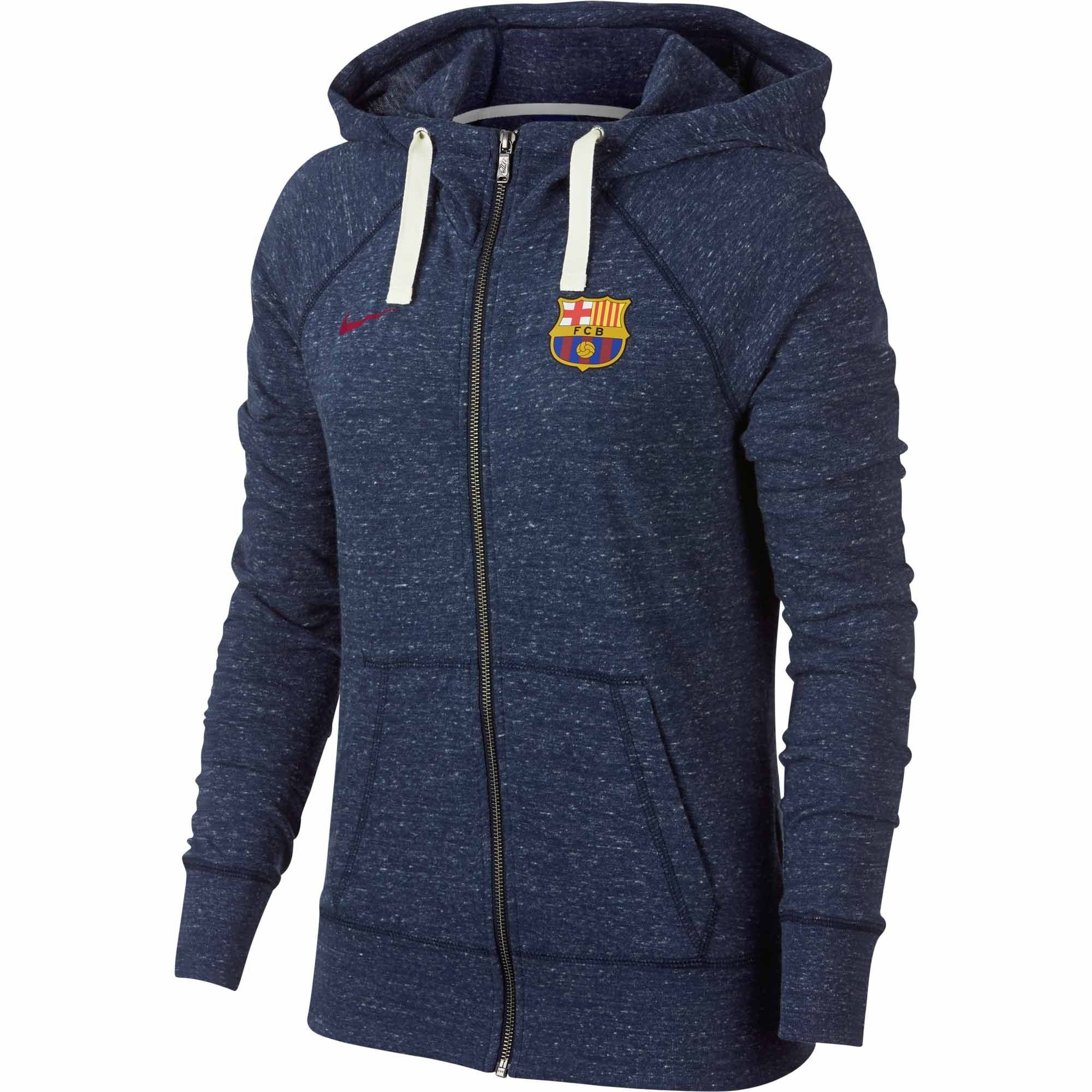 Nike Barcelona Vintage Hoodie - Womens - Obsidian Sail Noble Red ... cf9902a318