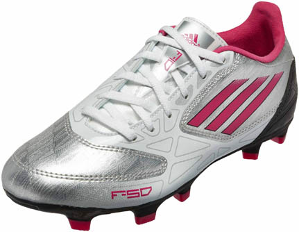 a48a4b2dcda72 ... get adidas womens f10 trx fg soccer cleats silver with pink and black  87b2a 3bc59