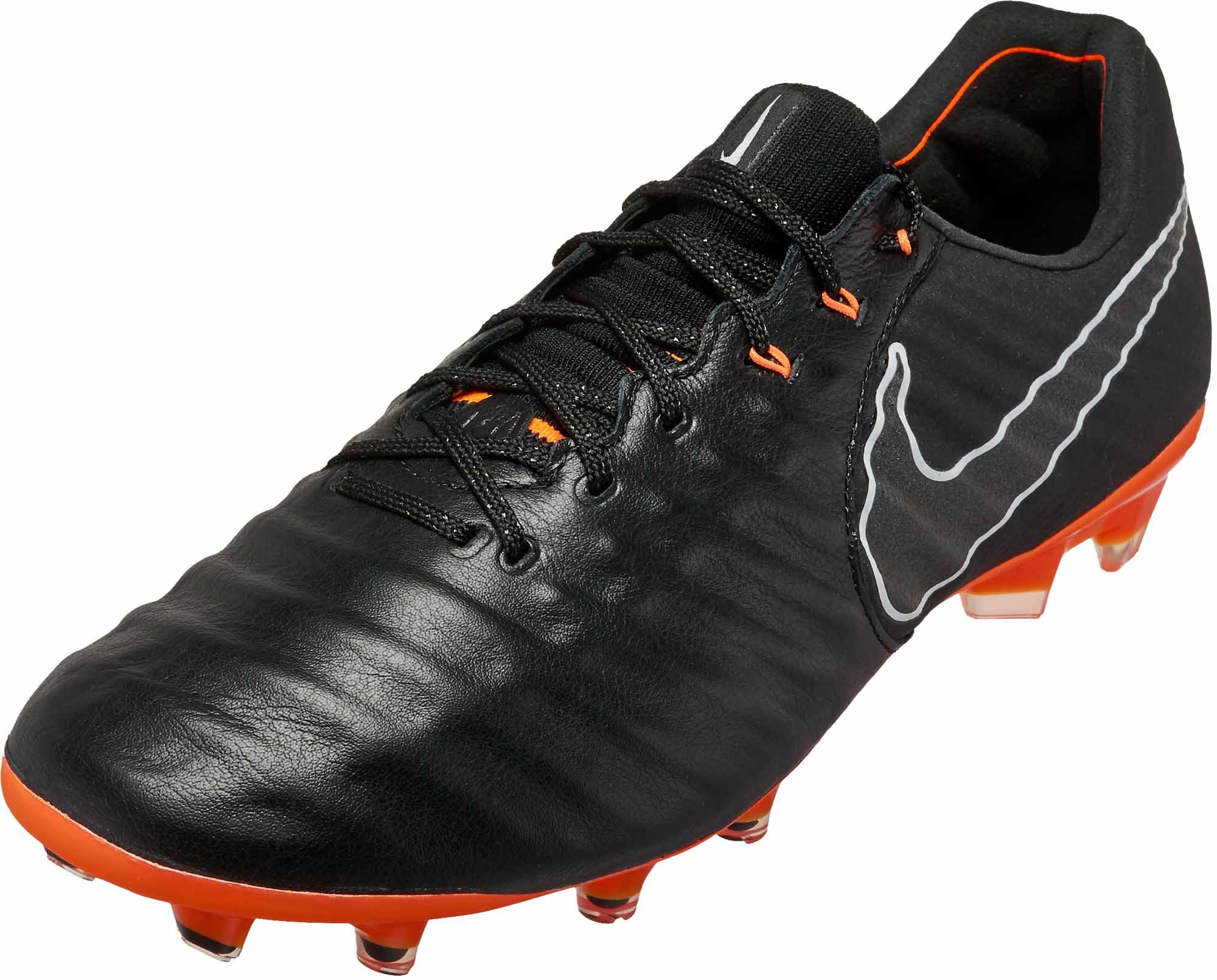 the latest f6f82 a474a Nike Tiempo Legend 7 Elite FG – Black   Total Orange