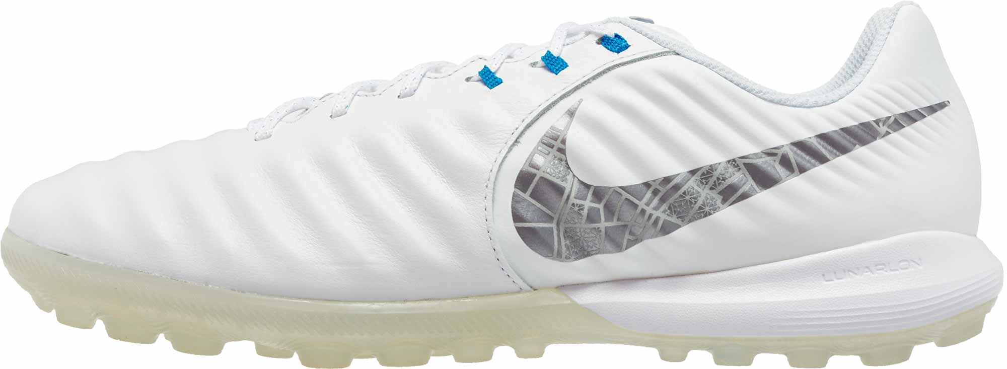 release date 4df6c 4c67a Nike Tiempo LegendX 7 Pro TF - White/Metallic Cool Grey/Blue ...