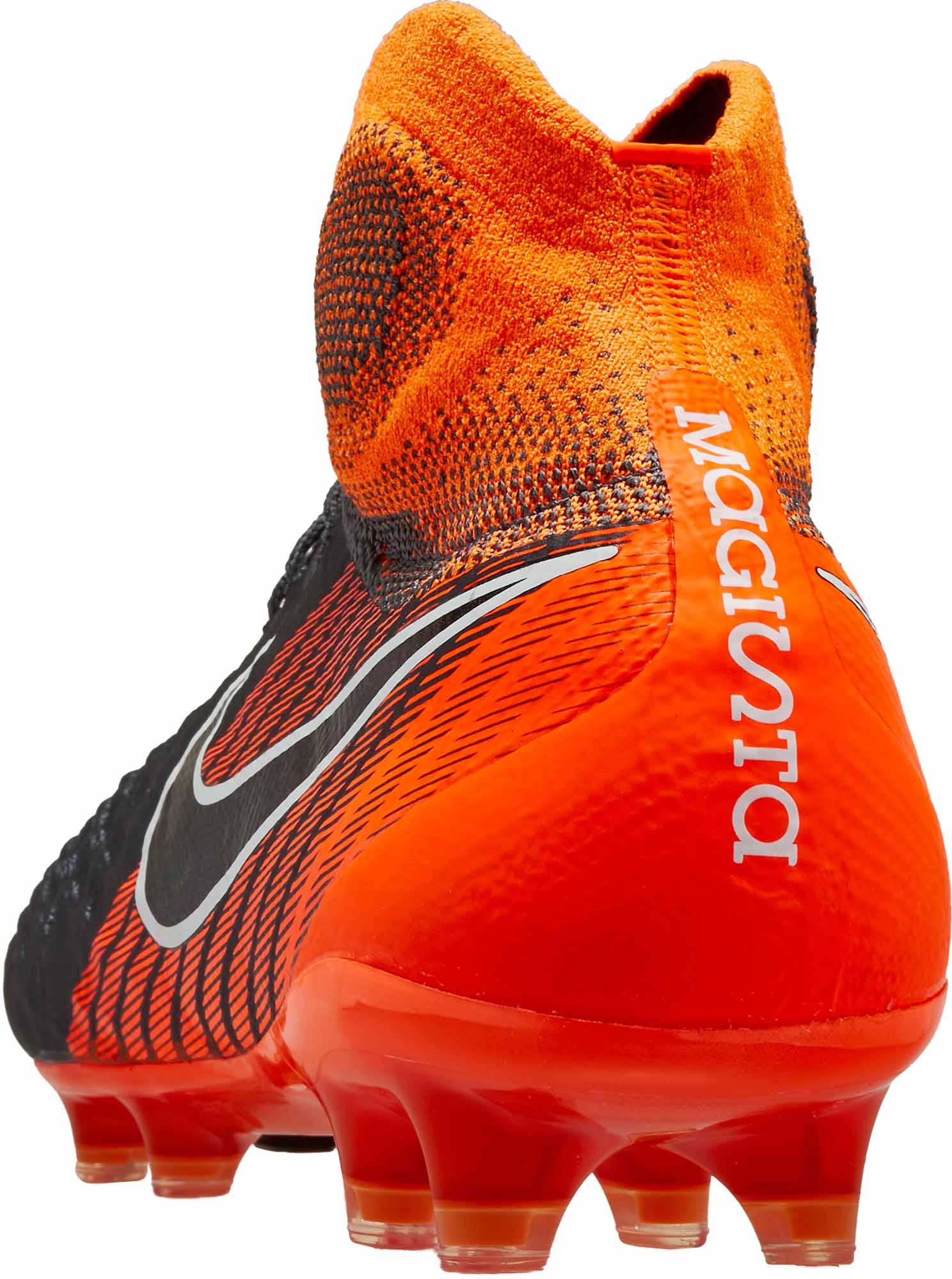 vente chaude en ligne 0f6d4 490dd Nike Magista Obra 2 Elite DF FG - Dark Grey & Total Orange ...