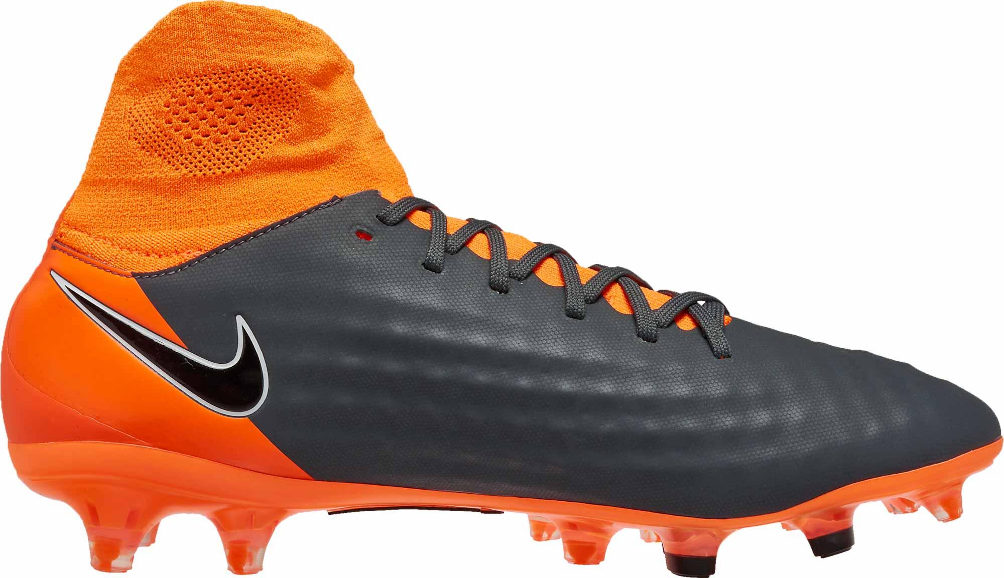 top quality detailed look 100% top quality Nike Magista Obra 2 Pro DF FG - Dark Grey & Total Orange ...