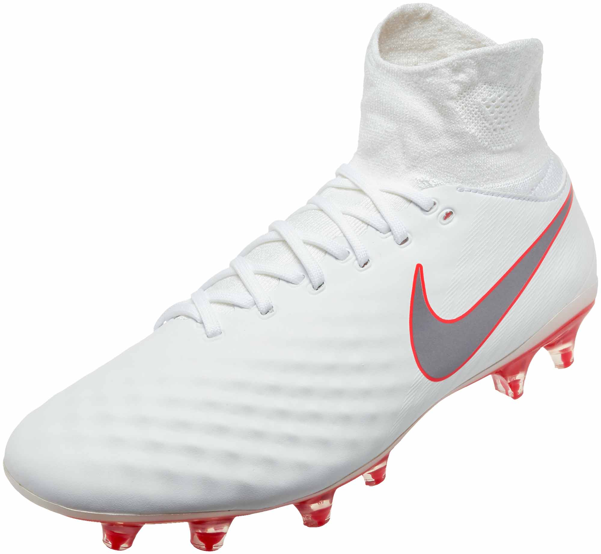 c24f0b41518 Nike Magista Obra II Pro DF FG - White   Metallic Cool Grey - Soccer ...