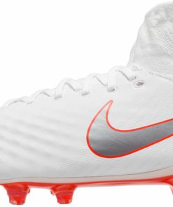f9d3ad900e53 Nike Magista Obra II Pro DF FG - White   Metallic Cool Grey - Soccer ...