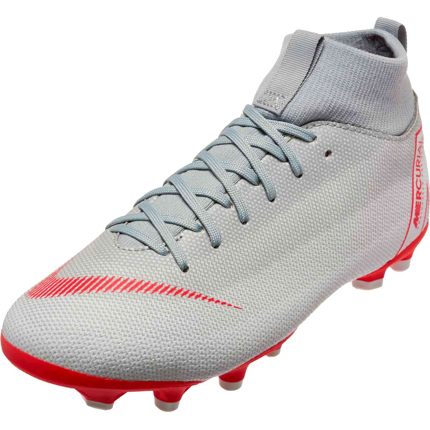 super popular b7959 83c7f Kids Nike Mercurial Superfly 6 Academy MG – Wolf Grey Light Crimson Pure  Platinum