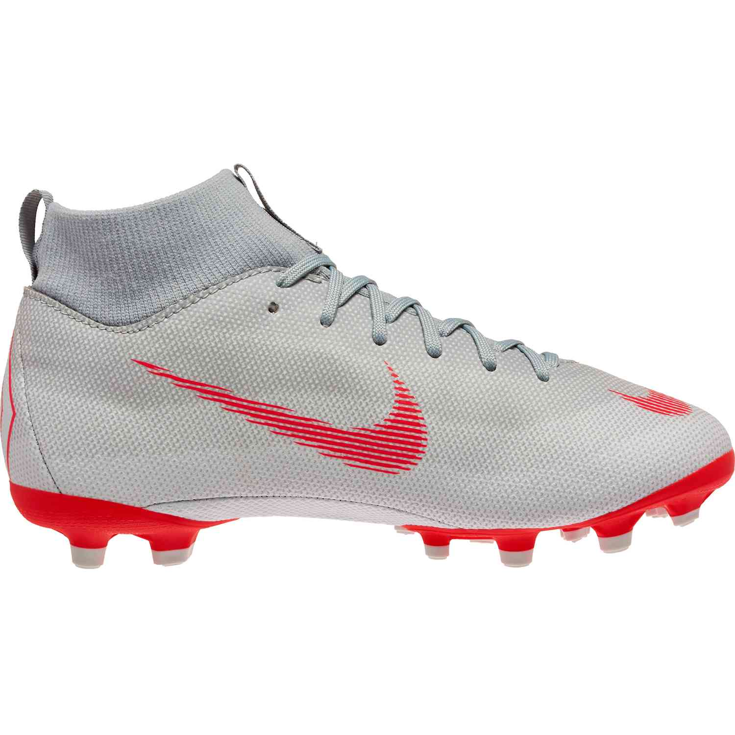 half off 62435 319a5 Kids Nike Mercurial Superfly 6 Academy MG - Wolf Grey Light Crimson ...