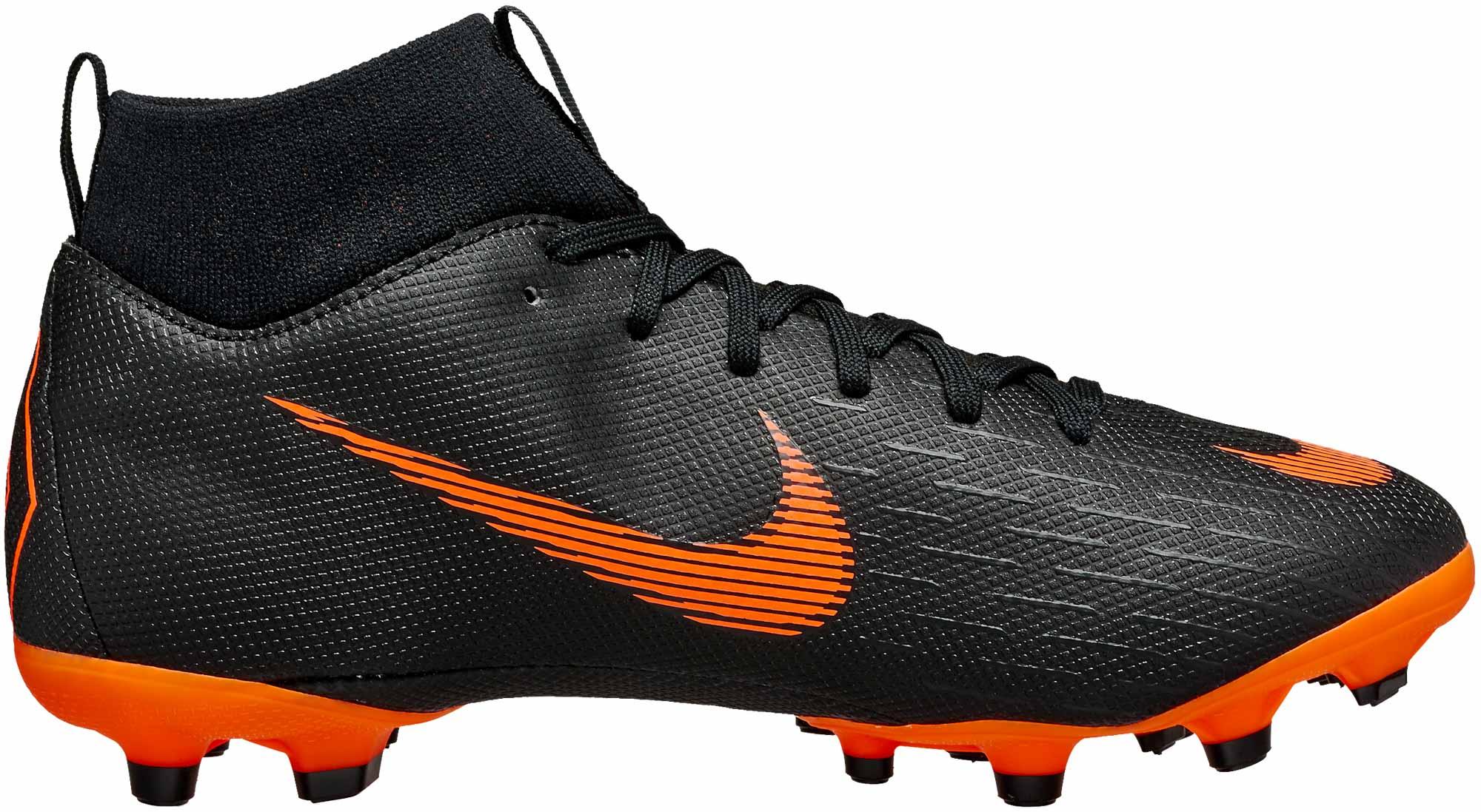 f919b11b26d Nike Kids Superfly 6 Academy MG - Black   Total Orange - Soccer Master