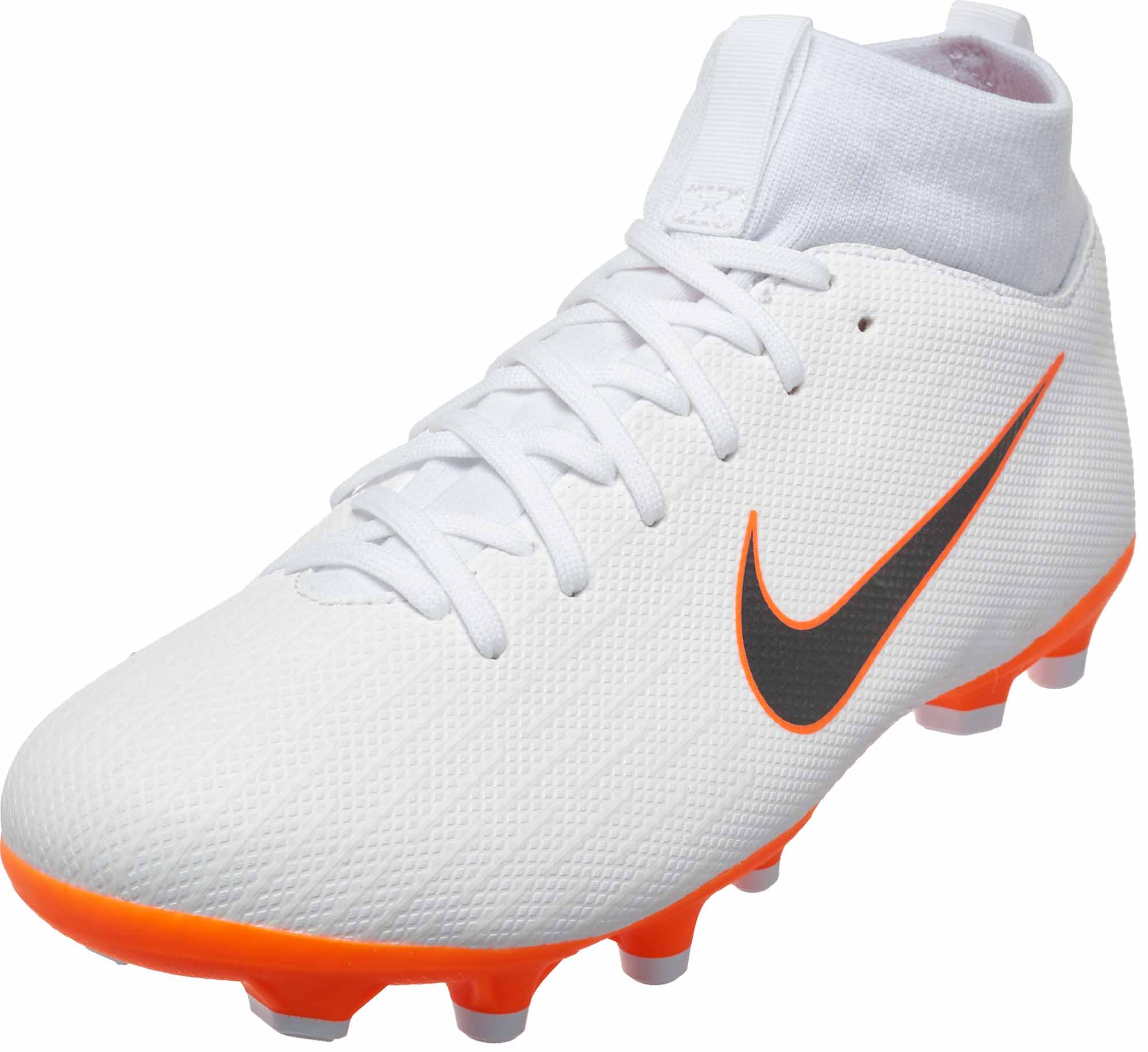 sports shoes 85b81 442f3 Nike Mercurial Superfly 6 Academy MG – Youth – White Metallic Cool  Grey Total Orange