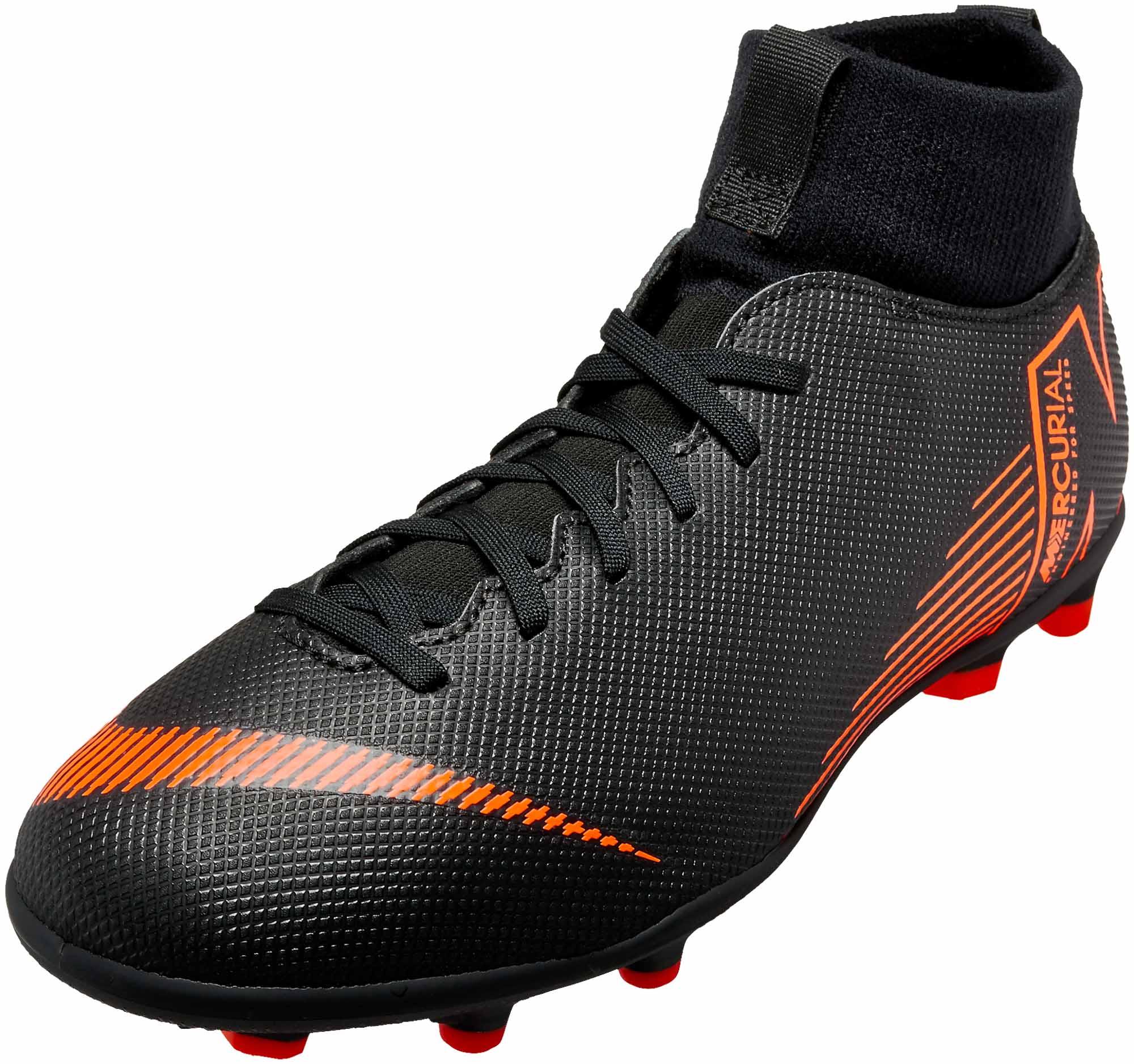 fc9e6799f55 Nike Kids Superfly 6 Club MG - Black   Total Orange - Soccer Master