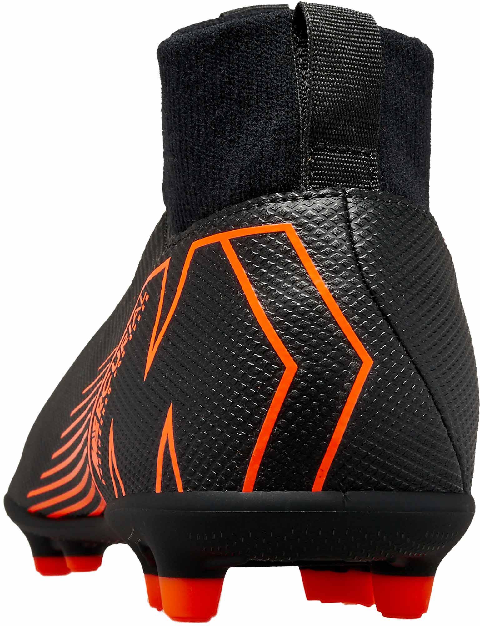 low cost 133c4 c0228 Nike Kids Superfly 6 Club MG - Black & Total Orange - Soccer ...