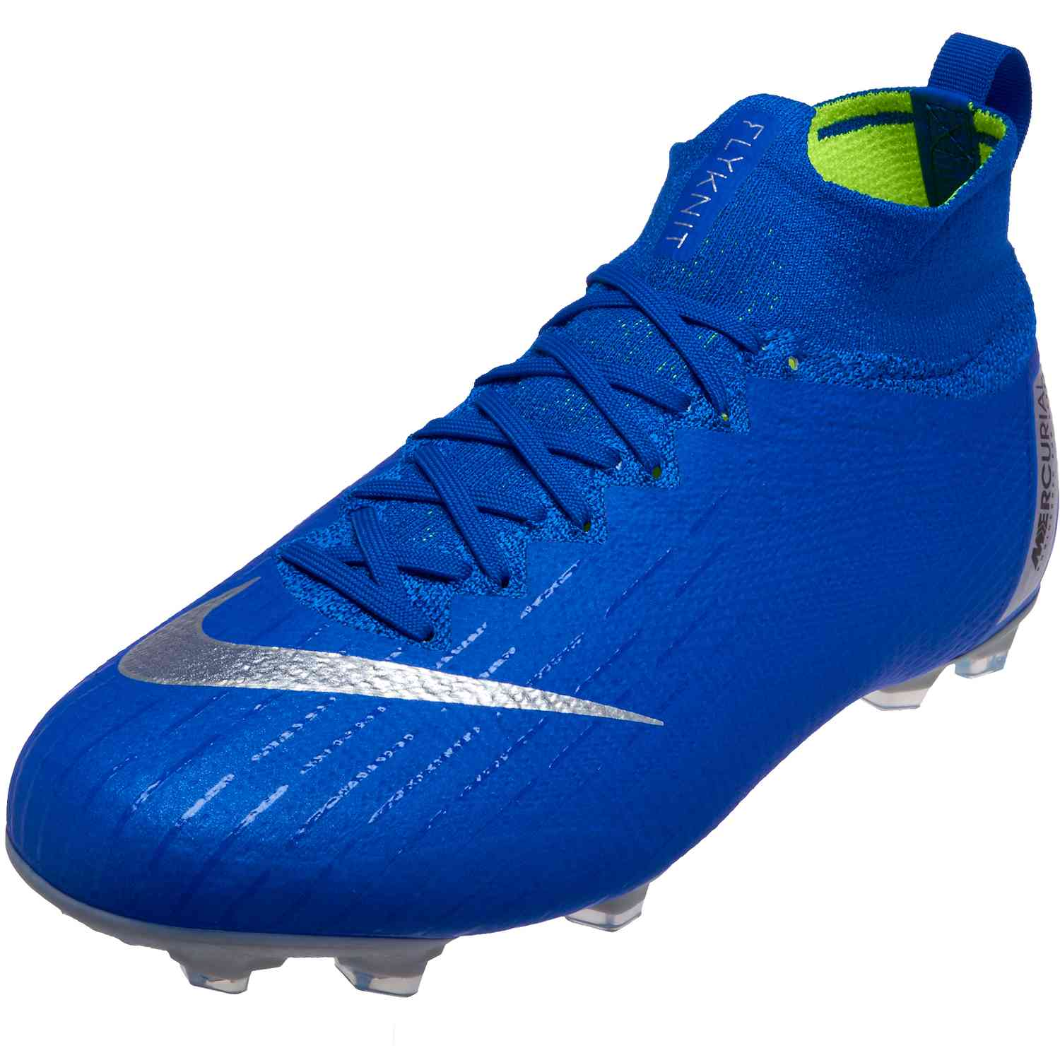 aa9988655 Nike Mercurial Superfly 6 Elite FG – Youth – Racer Blue/Metallic  Silver/Black/Volt