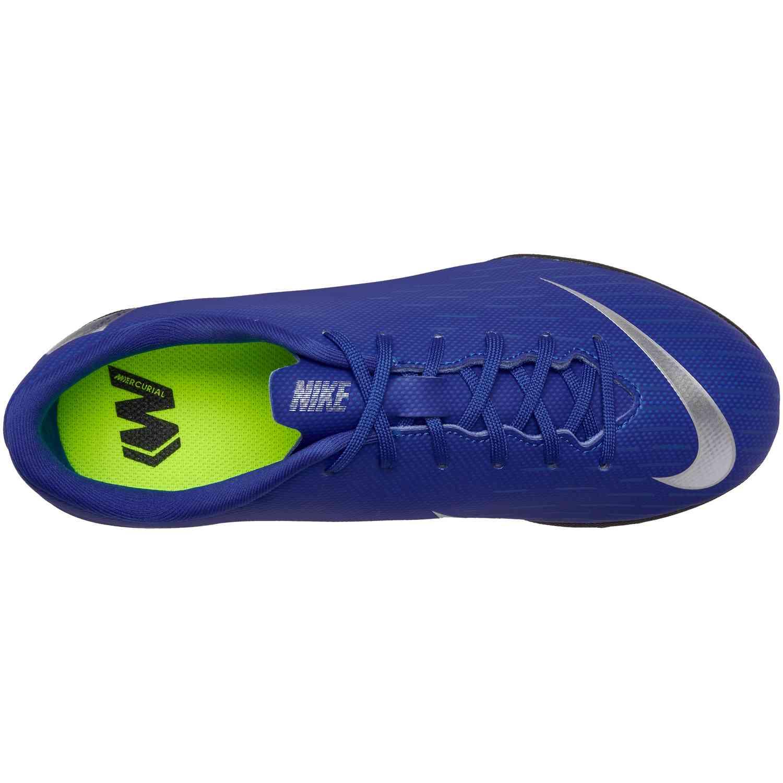 9f3473b4727 Kids Nike Mercurial VaporX 12 Academy TF - Racer Blue Metallic ...