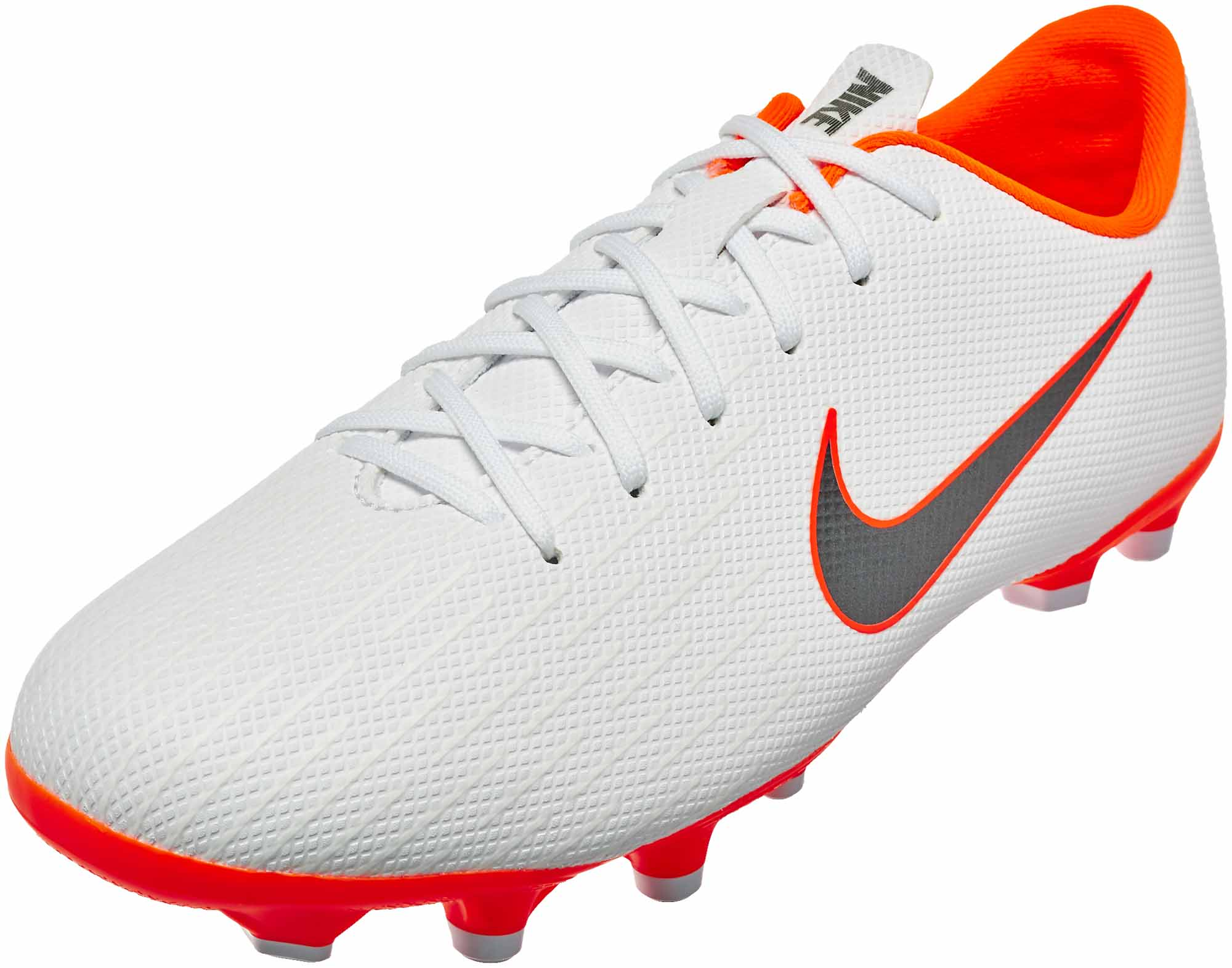 innovative design 1733d 84fd5 Nike Mercurial Vapor 12 Academy MG - Youth - White/Metallic Cool Grey/Total  Orange