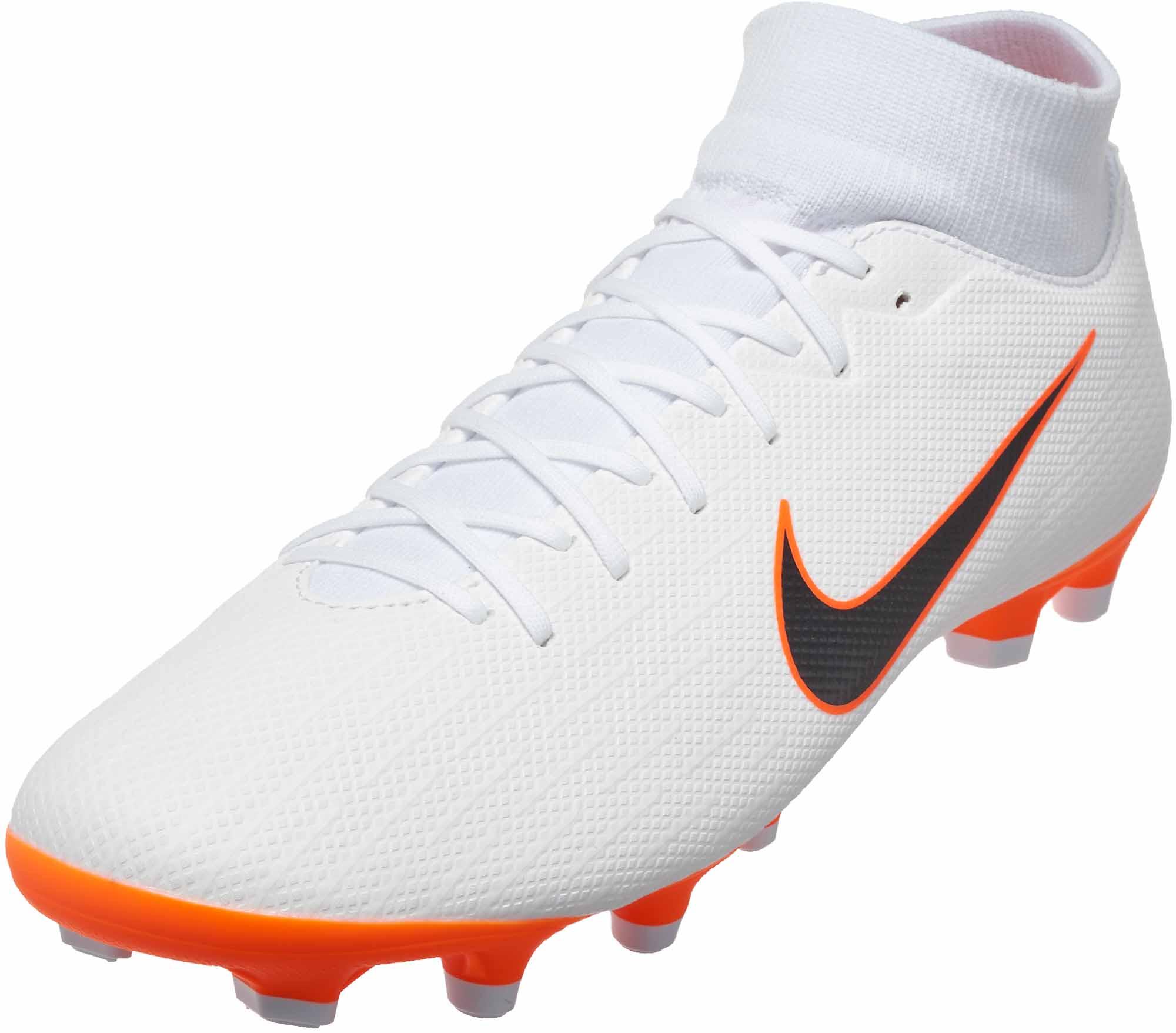 64114f9e7b5f Nike Superfly 6 Academy MG - White/Metallic Cool Grey/Total Orange ...