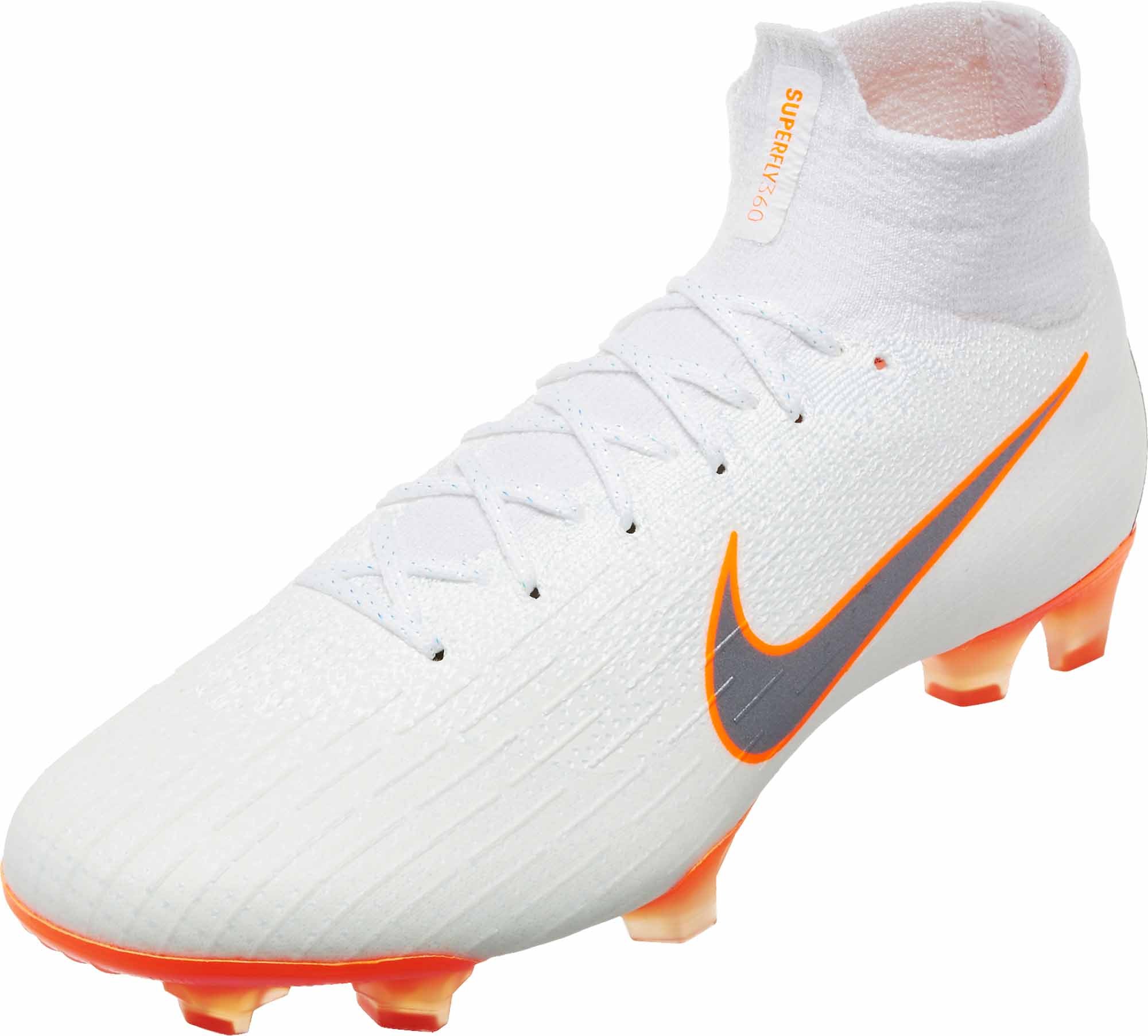 70d2b8eb1 Nike Mercurial Superfly 6 Elite FG - White   Metallic Cool Grey ...