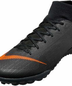 8b7328fe325 Nike SuperflyX 6 Academy TF - Black   Total Orange - Soccer Master