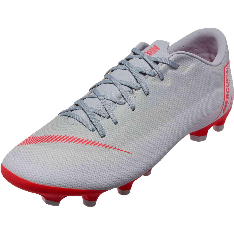 088821ba39c7f Nike Vapor 12 Academy MG - Wolf Grey/Bright Crimson/Pure Platinum ...