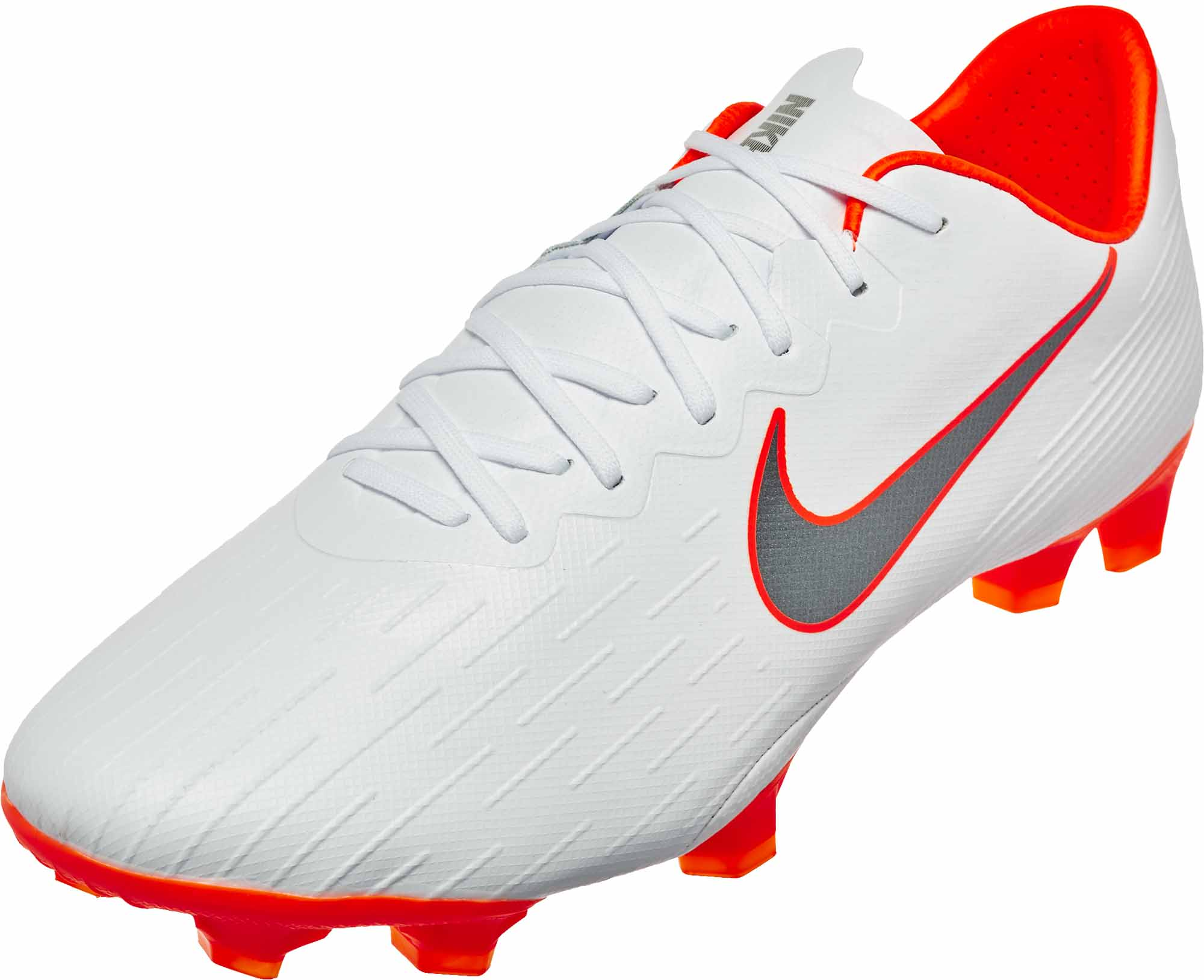 Nike Mercurial Vapor 12 Pro FG - White Metallic Cool Grey Total Orange 93a467329