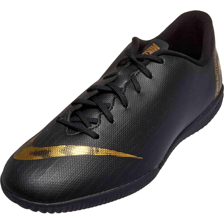 Bolos A escala nacional Lírico  Kids Nike Mercurial Vapor 12 Academy IC - Black Lux - Soccer Master