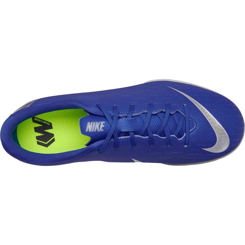 abf6d2095e6 Kids Nike Mercurial VaporX 12 Academy IC - Racer Blue Metallic ...