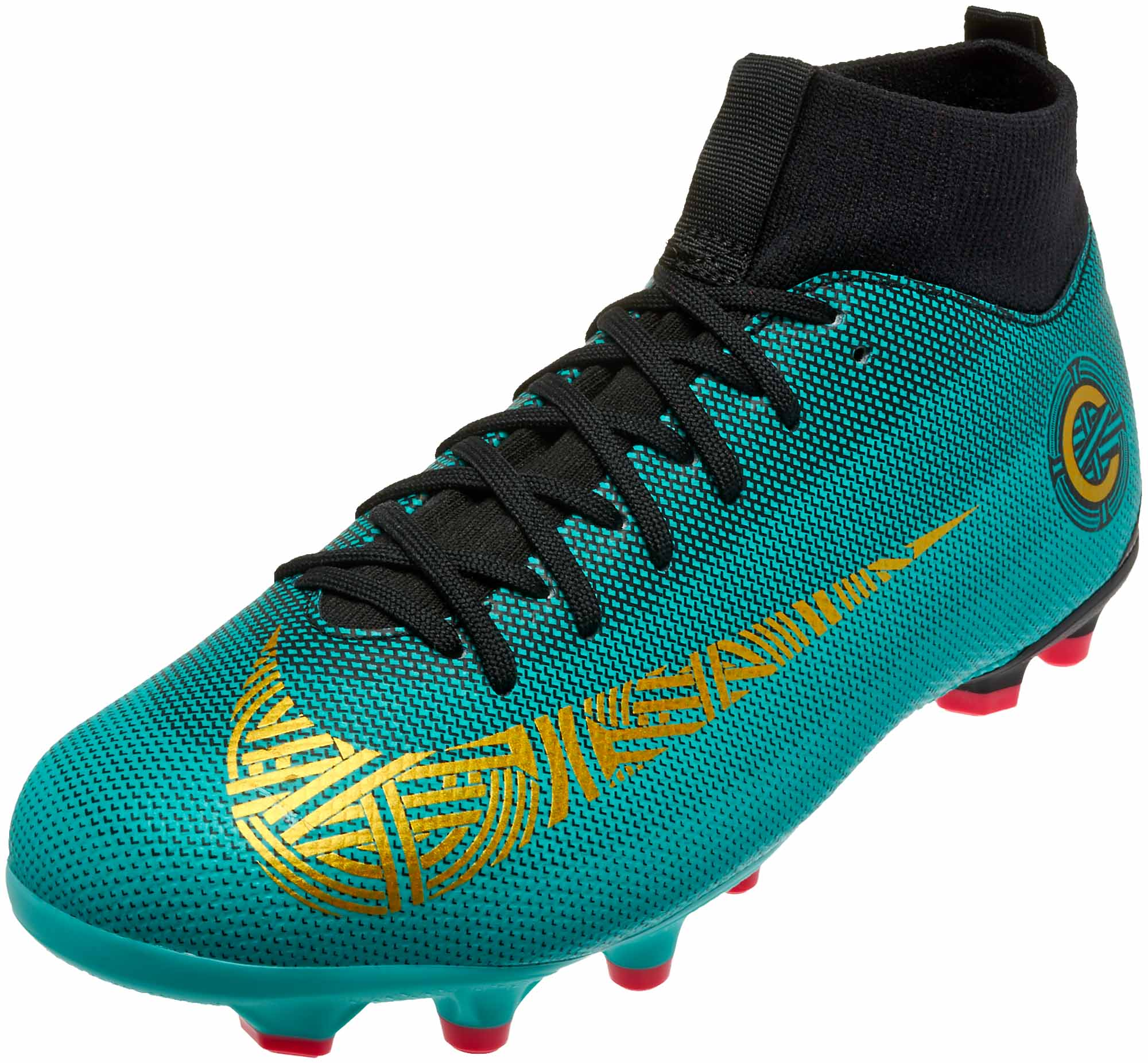 3e9cb49031b6 Nike Mercurial Superfly 6 Academy MG – CR7 – Youth – Clear Jade Metallic  Vivid Gold Black